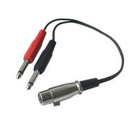 Wholesale xlr socket resale online - 3 Pin XLR Female Socket to dual Mono mm quot Male Jack Plug Audio Y Cable Cord m m m