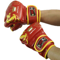 Wholesale Fighting Sports Gloves - Men's comfortable and thick sports Sanda training MMA boxing gloves taekwondo equipment child punching fighting gloves muay thai