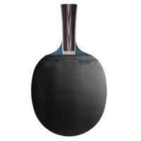 apretones de tenis de mesa al por mayor-Raqueta de tenis de mesa profesional Mango de madera Raqueta de ping pong Raqueta de palo de paleta Shakehand Raqueta de agarre con bolsa de transporte