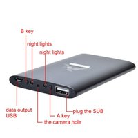Wholesale Covert Ir - Portable Covert HD 1080P 8GB Memory IR Night vison power bank hidden spy camera Motion Detection video recorder security camcorder black