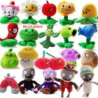 çocuklar için zombi oyuncakları toptan satış-Bitkiler ZOMBIES Oyuncaklar Çocuk Peluş Yumuşak Oyuncak Karikatür Çocuklar XMAS Hediye Yumuşak Dolması Oyuncak Koleksiyon Oyuncaklar Bebekler 21 Stil WX-T69