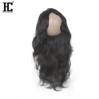 Wholesale Malasian Human Hair - 360 Frontal Brazilian Human Hair 360 Full Lace Frontal Human Hair Body Wave Frontal Brazilian Peruvian Malasian Indian Virgin Human Hair HC