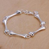 silberne knochenarmbänder großhandel-beste Geschenk Knochen 925 Silber Bettelarmband 20.5x0.8cm DFMWB267, Frauen Sterling Silber vergoldet Schmuck Armband