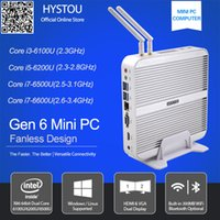 Wholesale Gen Skylake CPU Hystou v Computer i5 U Fanless Mini PC Windows Micro Office Computer HDMI VGA k TV Box