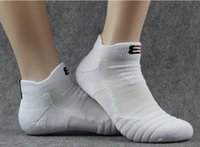 Wholesale Socks Hair - Elite basketball men's pure cotton socks add heavy towel base professional outdoor running hair collar sports hosiery