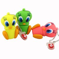 USB Flash Drive U Disco Gift Cartoon Tweety Bird Pen Drive USB Flash Drive Memory Stick Pen Drive 1GB 2GB 4GB 8GB 16GB