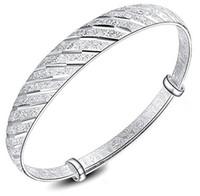 pulseras del encanto de china al por mayor-De calidad superior 925 pulseras de plata esterlina del estilo chino ajustable Meteor Star Charm Cuff Bangles pulsera pulsera para mujeres