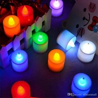 3600pcs / lot hotsale 5 цветов светодиодные свечи Shaped Small Flashing Night Light Change Candle holiday Decoration