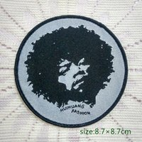 Wholesale Rock Band Bag - Jimi Hendrix Guitarist Singer Music Rock Band Songwriter Sew On Patch Shirt Trousers Vest Coat Skirt Bag Kids Gift Baby Decoration