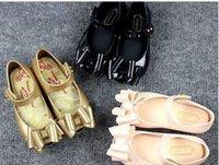 Wholesale Cute Kid Shoes - 3 Colors Kids Shoes Mini Melissa Girls Princess New Limited Strap Baby Rubber Cute Mickey Sandals girls mickey Summer shoes