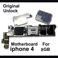 Wholesale Iphone Motherboard Replacement Part - Wholesale-100% unlocked Original Mothboard For Iphone 4 4G Motherboard 8GB mainboard with chips Logic Board Parts Replacement