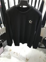 Wholesale Chest Clothes - 2017 Winter fashion Men clothing sweater Mens Male Brand sweater Black knit Sweatshirts Chest pentagram embroidery Men clothing