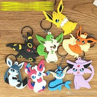 Wholesale Wholesale Japan Anime Collection - 14 Design Poke PVC Pendant Keychain poke Figures Pendant Japan Craft Hot Anime Collection Kids Gifts Toy Free shipping E1197