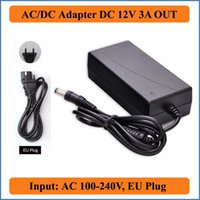 Wholesale Adapter For Lcd 12v 3a - 12V 3A EU Plug AC DC Adapter AC 100-240V Converter to DC 12V 36W Power Supply Charger for LED strip Light or LCD Monitor CCTV
