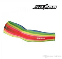 Wholesale Rainbow Cuff - Rainbow ciclismo arm cover cycling clothes sleeves Car Bike Bicycle UV Sun Protection Arm Warmers Cuff Sleeve Cover