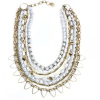 Wholesale Elegant Chunky Necklaces - Free Shipping New Layers Ivory Statement Chunky Necklace, Elegant Chunky Bead Necklace, Dismountable Fashion New Necklace