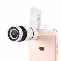 сотовые телефоны зум-камеры оптовых-Универсальный 8X Zoom Сотовый телефон Объектив телескопа с клипсой Длинный фокусный объектив камеры для Iphone Samsung HTC Sony Huawei с коробкой