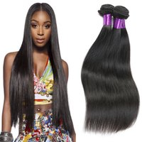 Peruvian Virgin Hair Straight 3 Bundle Offerte Peruviano Straight Virgin Hair Weave Bundles Premium ora estensione dei capelli ricamo Remy