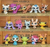 Wholesale Littlest Pet Shop Collection - 15pcs set Littlest Pet Shop Q LPS-Littlest Shop Mini Series Pet Doll Animal Cartoon Action Figures Collection Toys Free Shipping WD333AA