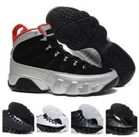 Wholesale Slip Basketball Shoes - Clearance Sale Retro 9 Basketball Shoes Men Sneakers All Black Lace-Up Slip Rubber Outsole Men's Shoes Size 40-47