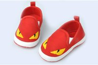 Wholesale Little Boys Girls - New Lovely baby Prewalker Soft Sole Little Monster Kids Shoes Wholesale 3 Pairs lot Baby Girls Boys Shoes Size 11-13 Baby Shoes