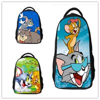 Wholesale Tom Jerry School - Child School bag Classic Cartoon Tom and Jerry Pupils backpack Children bags Boys & Girls Breathable Classic Animation school bags