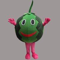 Wholesale Watermelon Fancy Dress - New Watermelon Mascot Costume Cartoon Clothing Green Adult Size Carnival Fruit Watermelon Costume Fancy Dress Party Free Shipping