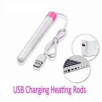 Wholesale Heating Masturbation - USB Heating Rod for Masturbators Pussy Inflatable doll Pocket Puss Warmer Male Masturbation Heated Bar Sex Toys for Women