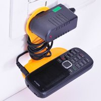 Wholesale Phone Holder Ac Wall - Wholesale 200Pcs lot Best Price Mobile Phone Bag Mobile Cell Phone Holder Hangs AC Wall Charger Holder Colorful