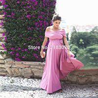Wholesale Big Gown For Woman - Pink Long Chiffon Evening Dresses For Pregnant Women Party Gowns Big Size V-Neck Maternity Prom Dress 2017 Vestidos De Festa