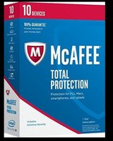Wholesale Pcs Device - McAfee Total Protection - 10 Devices- 1-year 2yearsubscriptionprovides premium antivirus, identity and privacy protection for your PCs, Macs