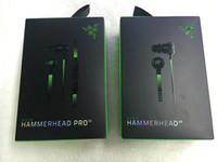 kopfhörer-mikrofon großhandel-Razer Hammerhead Pro V2 Kopfhörer im Ohrkopfhörer mit Mikrofon mit Kleinkasten in den Ohrspielkopfhörern Freies Verschiffen.