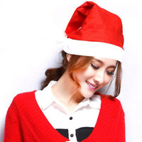 Wholesale 2017 Must have Christmas List Christmas hat Red color Santa Claus cap Santa hat For Adult and kids Big size and small size Christmas Hats