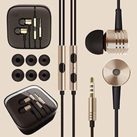 Wholesale Silver Wire Hook - Xiaomi Piston Earphone 2 II Headphone Headset Earbud with Remote & Mic For MI3 Mi4 Xiaomi Note Redmi Phone Free shipping