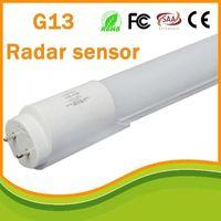 Wholesale acoustic white - 120cm T8 led fluorescent radar tube microwave sensor light  Acoustic control t8 tube 5-8m led t8 tubes light
