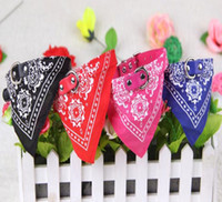 Wholesale large pet bandana resale online - New Style Adjustable Pet Dog Cat Bandana Scarf Collar Neckerchief Brand New Mix Colors CM dog collars WY79