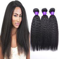 Wholesale Cheapest Straight Weave - peruvian virgin kinky straight 100% cheapest peruvian human hair products remy light yaki hair weaves coarse yaki weft 4 bundles