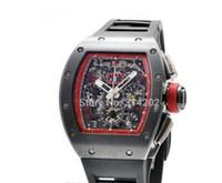Wholesale Digital Rubber Strap Watches - 2016 new Automatic Watches New 011 Felipe Massa Singapore Grand Prix Black Rubber Strap mens watch Wristwatches Men's Wristwatches