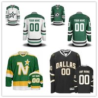 Wholesale Throwback Jerseys Dallas - Personalize Dallas Stars Custom Mens Womens Youth Ice Hockey Jerseys Customized Home Green Away White Black Green Vintage Throwback S,4XL