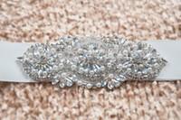 ingrosso bande in rilievo per abiti-Cintura e cinture da sposa alla moda Cintura abito da sposa per matrimonio Cintura da sposa in strass con strass Crystal economici