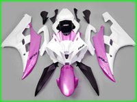 Wholesale Yamaha R6 Fairings Kit Pink - White pink Fairing kit for YAMAHA YZFR6 06 07 YZF R6 2006 2007 Injection mold YZF600 yzfr6 06 07 ABS Fairings Set