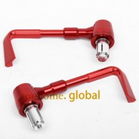 Wholesale Levers Honda Hornet - CNC Motorcycle hand Protect Brake Clutch Levers Protector Falling Protection Red For Honda CB599 CB600 HORNET 1998-2006 1999