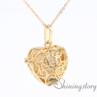Wholesale Heart Necklace Red Rose - heart diffuser necklace diffuser locket wholesale perfume necklace essential oils jewelry openwork metal volcanic stone necklaces pendants