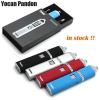 Wholesale Voltage E Cig Kit - Authentic Yocan Pandon Kit QUAD Wax Pen E Cigarette Kits 1300mAh Battery 4 Coils Kits 2 QDC Voltage electronic cigarettes e cig