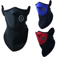 Wholesale Face Mask Cycling - Neoprene Neck Warm Balaclavas Half Face Mask Outdoor Cycling Motorcycle Ski Snowboard Veil Lightweight Winter Mask