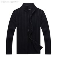 Wholesale Pepe Jeans Men - Wholesale-Sueter Real Computer Knitted Pull Homme Pepe Jeans Free Delivery Of 2015 New Winter Men's Sweater Cardigan Collar Thickening