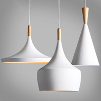 Wholesale Chandelier Pendant Light Wholesale - Design by Tom Dixon Pendant Lamp Beat Light tom dixon White wooden instrument Chandelier,3PCS PACK
