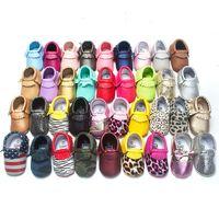 baby sandalen großhandel-10 Paare 2016 neue entworfene Moccs Baby Mokassins Kinder Moccs Baby Schuhe Sandalen Fransen Schuhe hohe Qualität