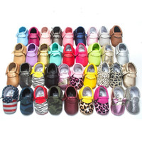 Wholesale 10 pairs new designed moccs baby moccasins kids moccs baby shoes sandals fringe shoes high quality