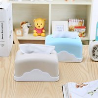 Wholesale Colorful Tissue - 2017 Christmas gift napkin plastic box square box colorful sweet style Desktop Drawer Box for family